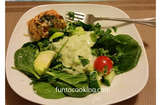 Avocado Salad DressingGreen Salad Avocado Dressing  Roast Salmon