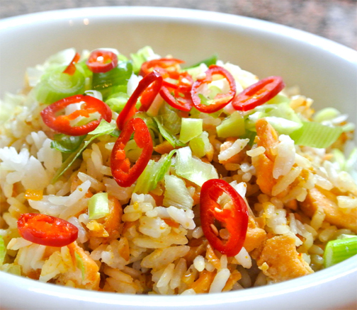Salmon Stir-Fried Rice