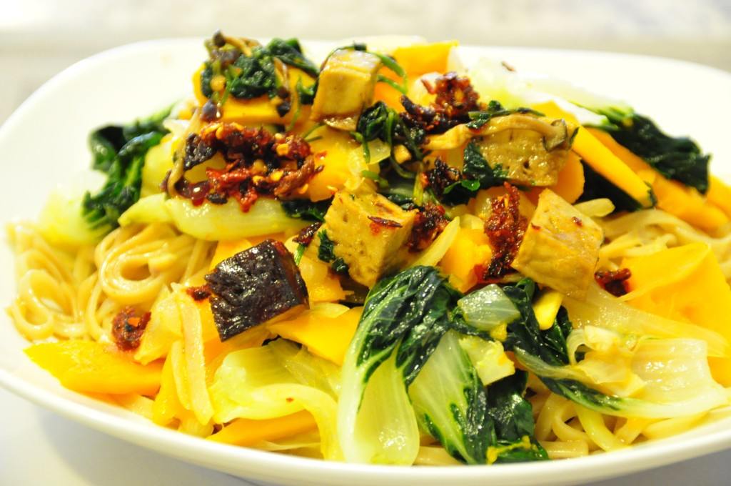 Scallop Noodle with Veg